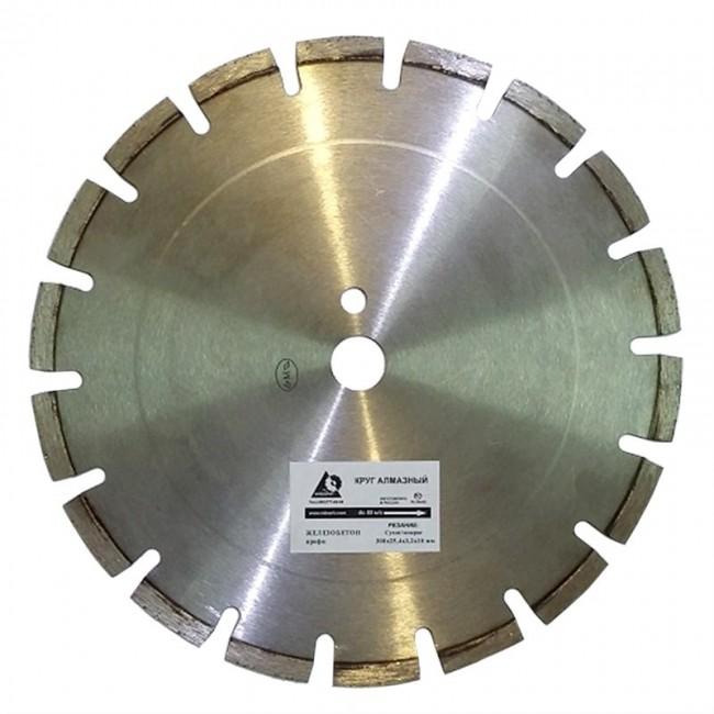 Алмазный диск по железобетону 300х25,4 мм средней выдержки