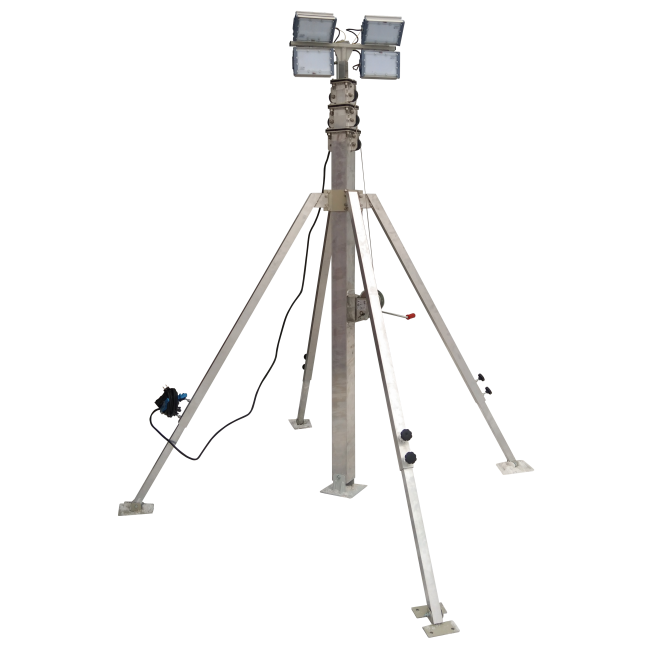 Осветительная вышка СПС-Р 13,5 м LED 4х100
