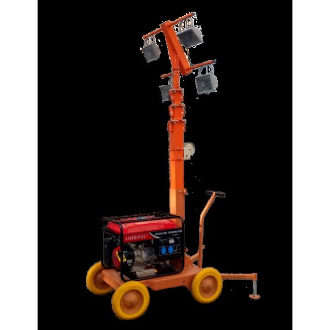 Передвижная осветительная мачта СПС-М 8 м ГАЛ 4х500